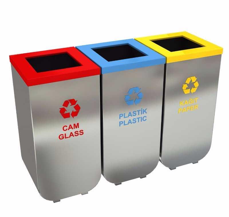 Plastik Geri Dönüşüm Kutusu Paslanmaz Gdk 628 A 3